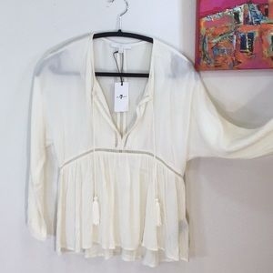 NWT 7 for all Mankind Boho Peasant top